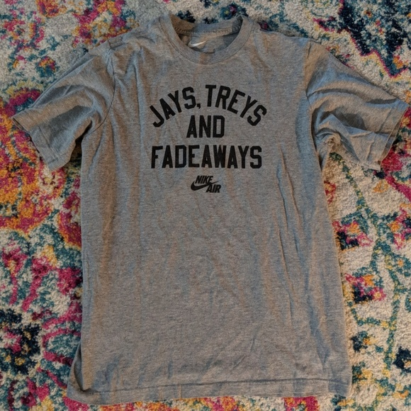 8775ecdf Nike Shirts & Tops | Jays Treys Fadeaways Tshirt Kids Xl | Poshmark